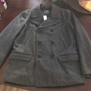 Gap Peacoat Wool Blend Men's Large NWT
